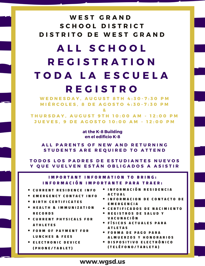 ALL SCHOOL REGISTRATION