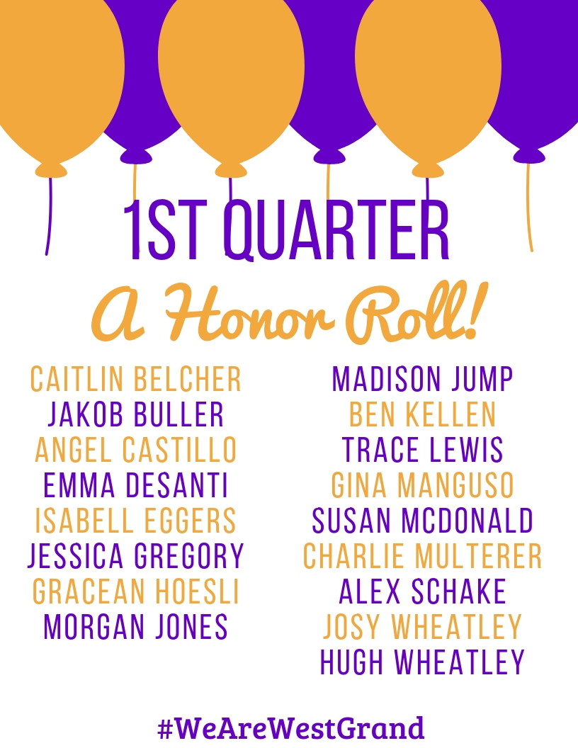 1st Quarter High School A Honor Roll