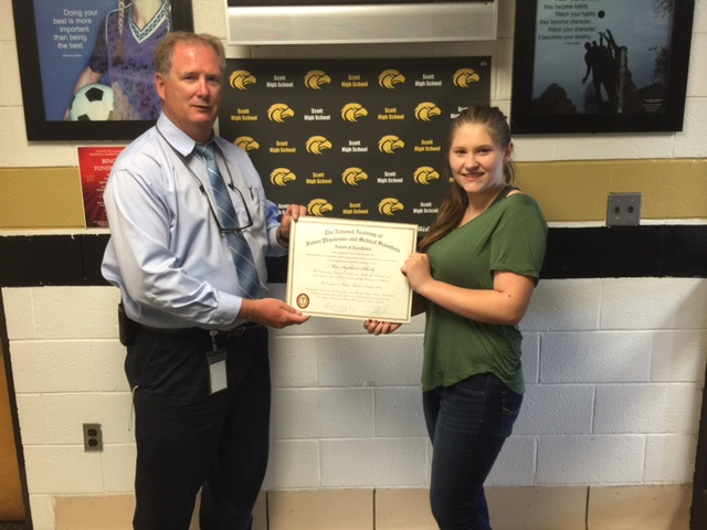Scott Student Recognized