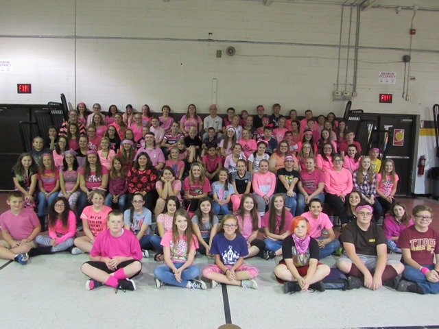 PINK OUT for Breast Cancer Awareness at Sherman Junior High