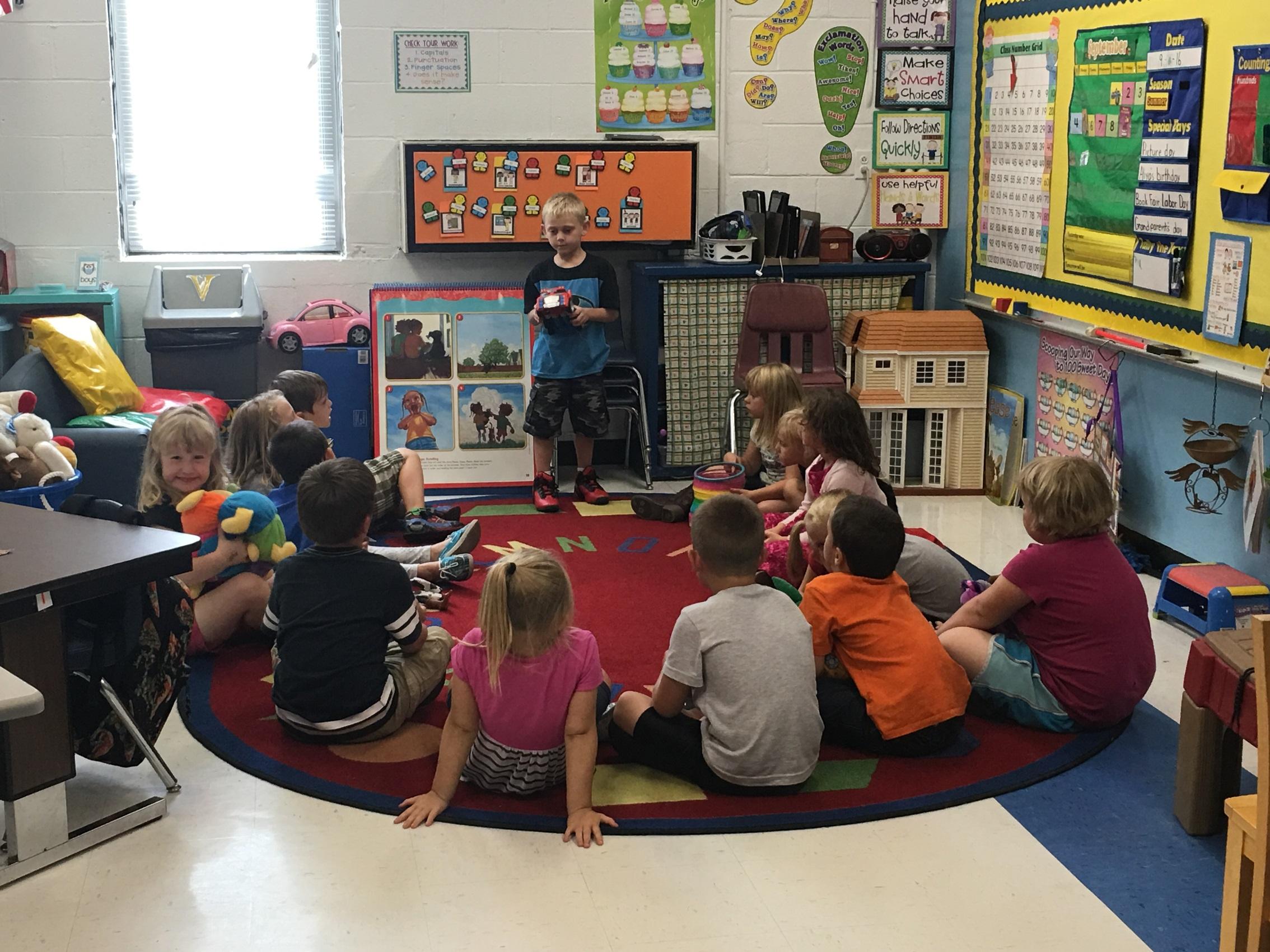 Student Leadership begins in Mrs. Massey's Kindergarten Class!