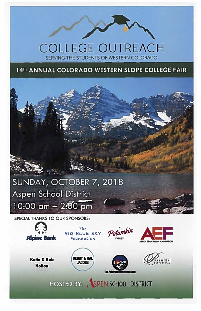 College Outreach-Western Slope College Fair
