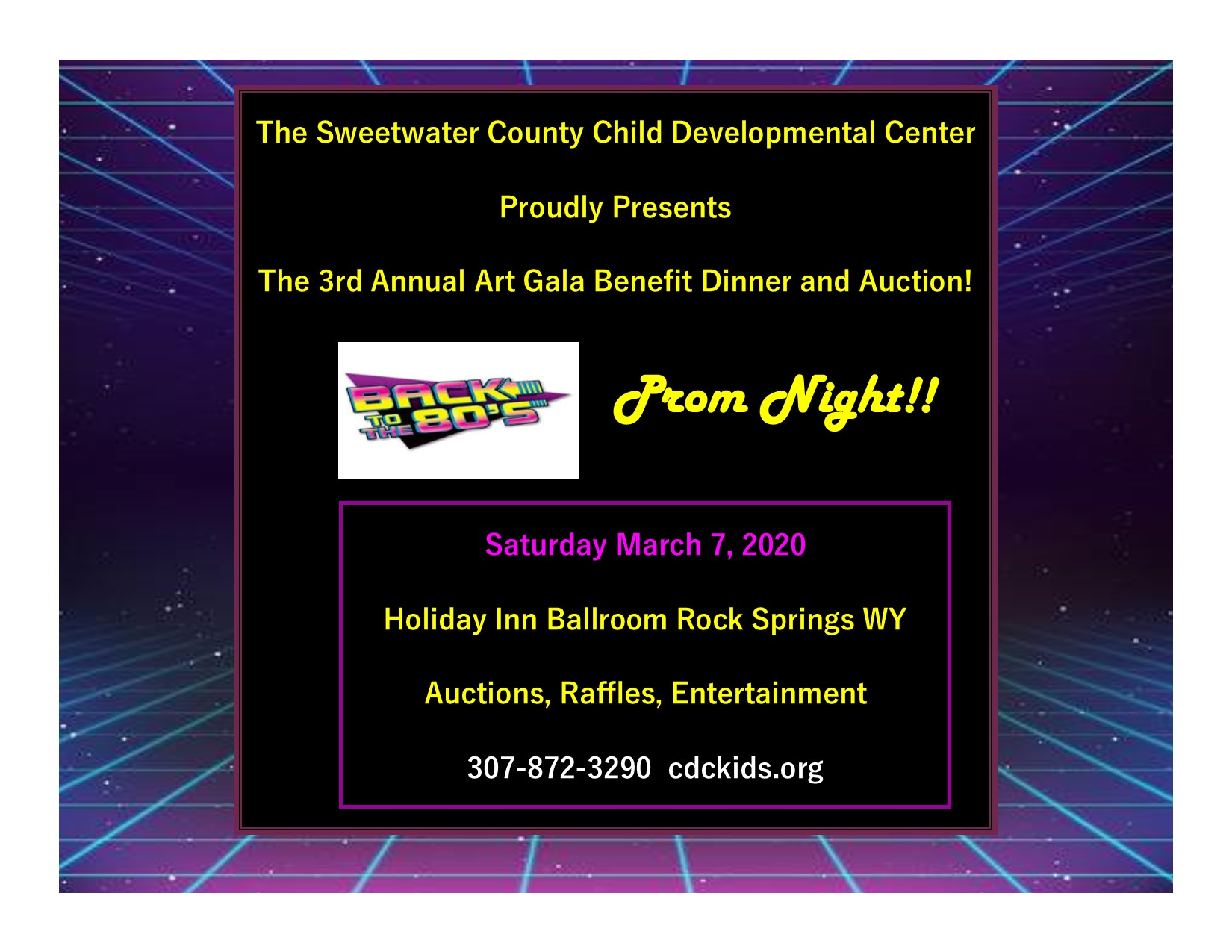 Sweetwater County CDC's Art Gala Click me for Tickets!