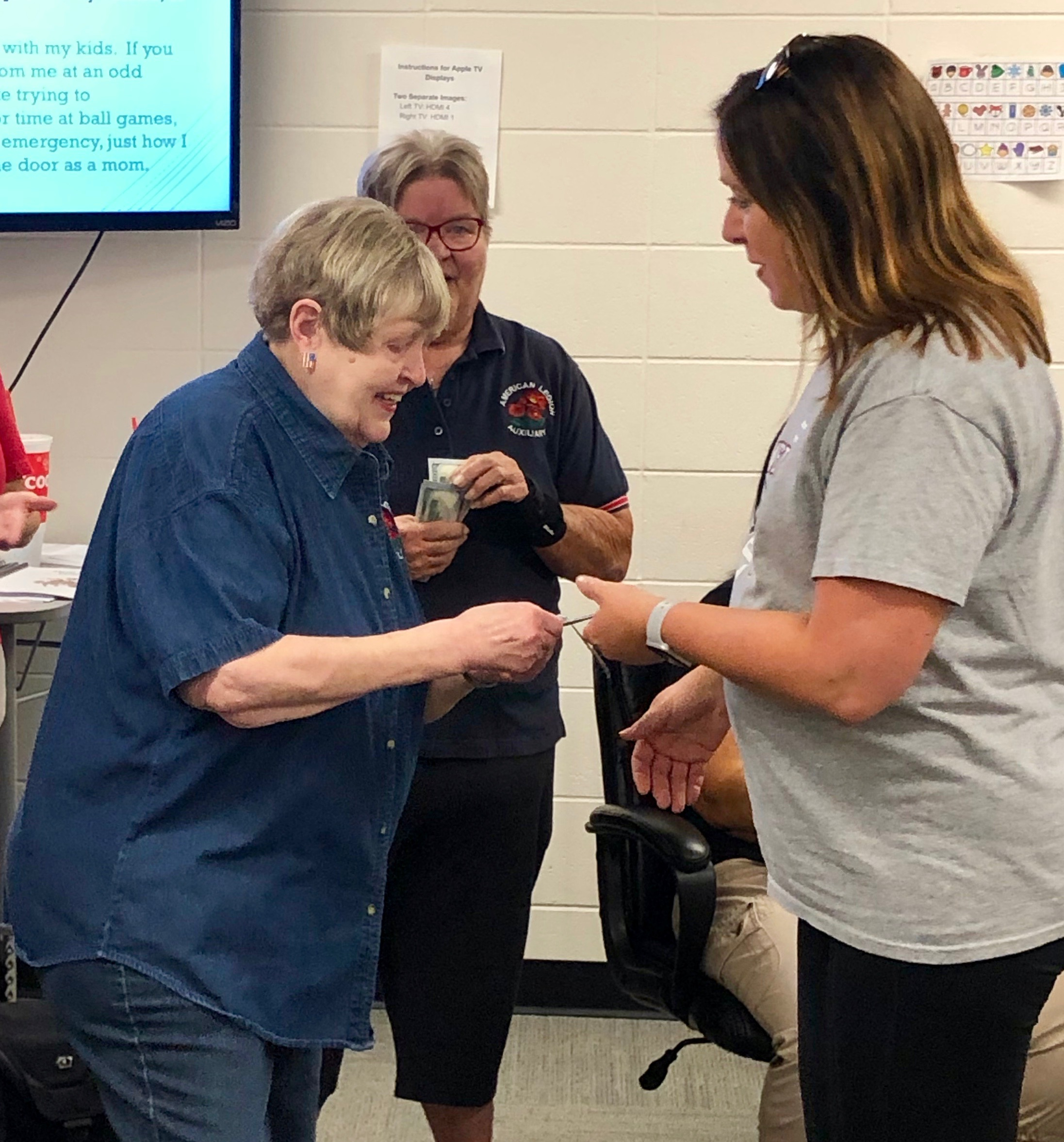 Akron Legion Auxiliary Donates to Teachers