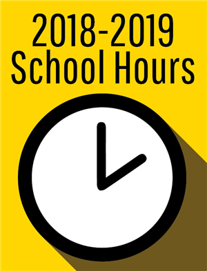 2018-2019 School Hours