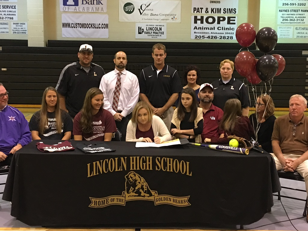 Taylor Houch signs Softball Scholarship with University of Mobile
