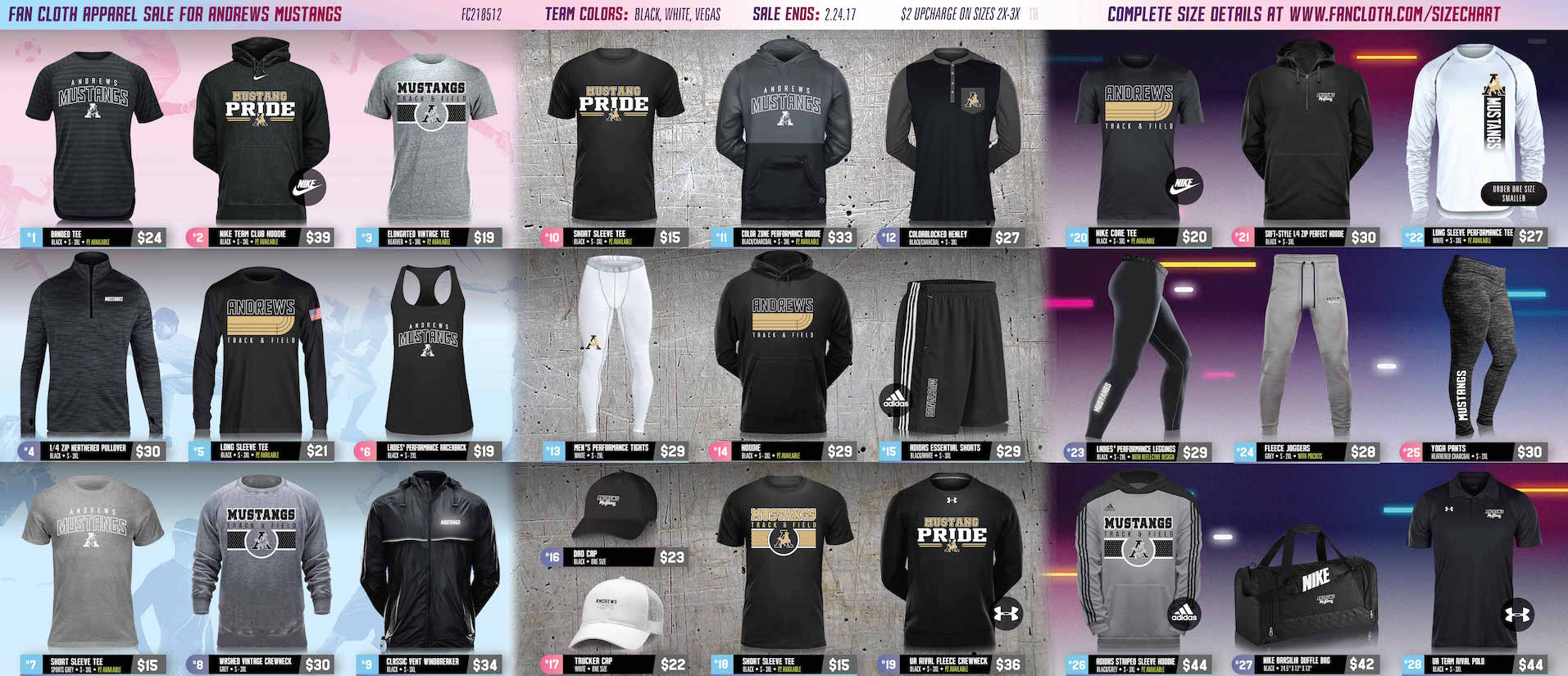 Mustang Track/Athletic Apparel - On Sale NOW!