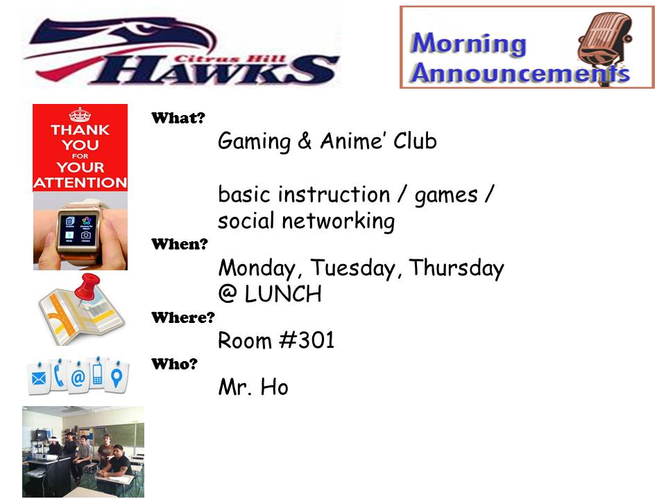 Gaming & Anime' Club