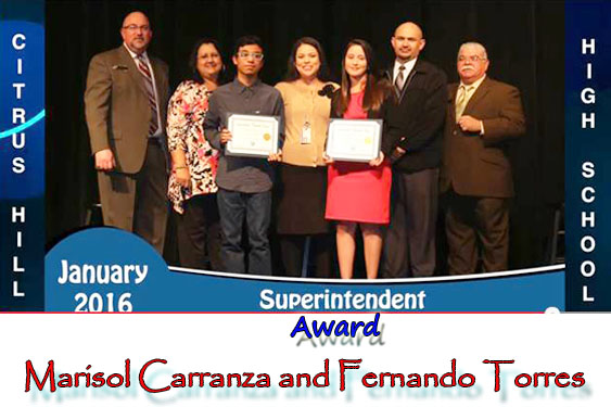 Superintendent's Award Students