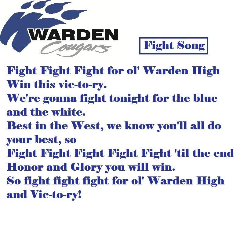 Lyric high school fight song lyrics : Students - Warden High School