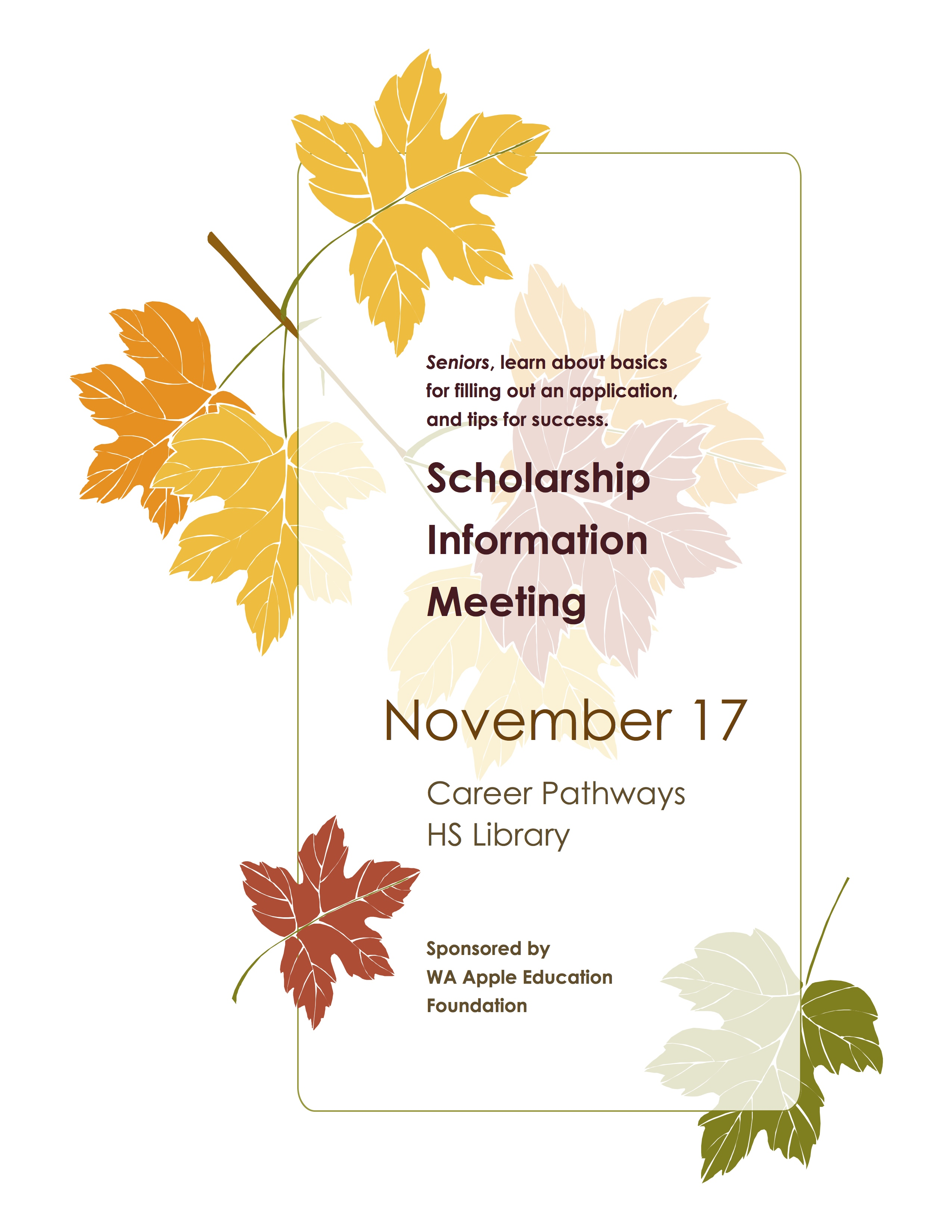 Scholarship Info Meeting