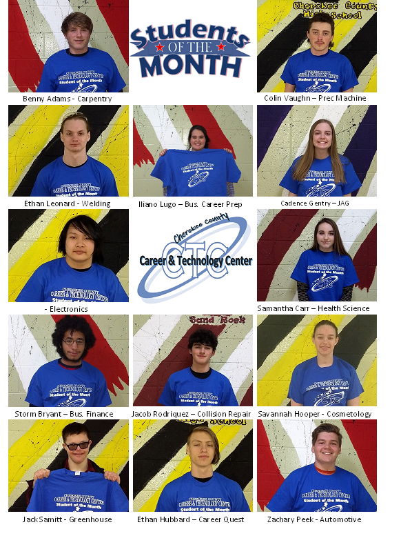 Career Tech February Students of the Month
