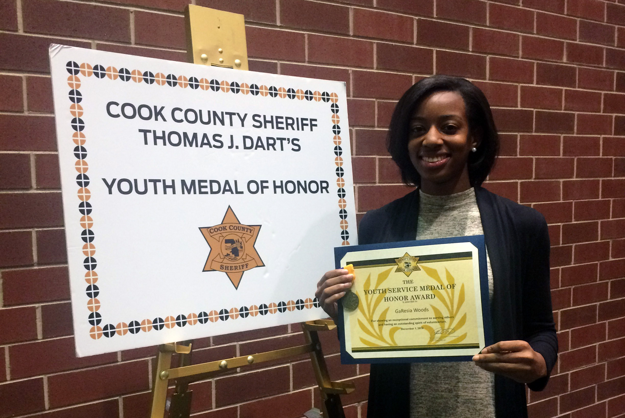 Bloom Student Receives Youth Medal of Honor!