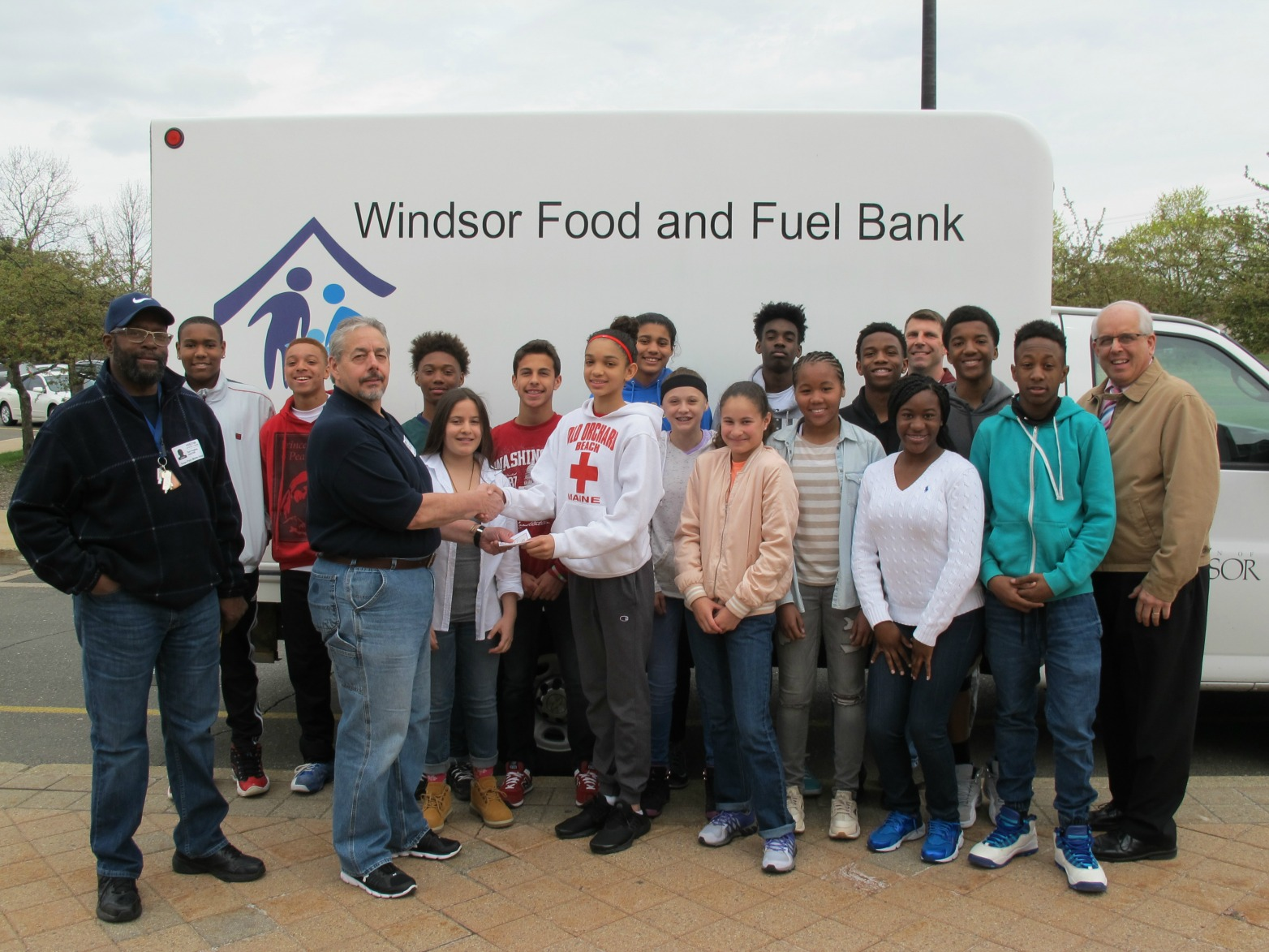 Student/Staff Basketball Game Raises Money for Windsor Food and Fuel Bank