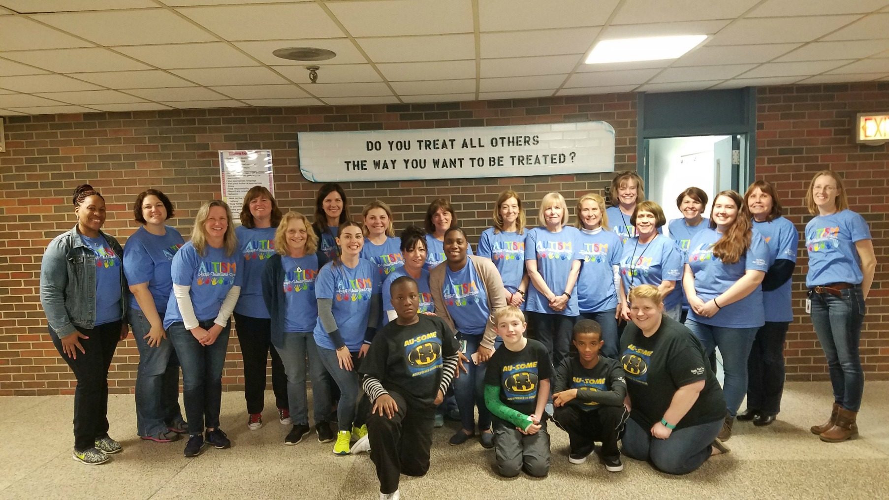 Sage Park Staff Support Autism Awareness