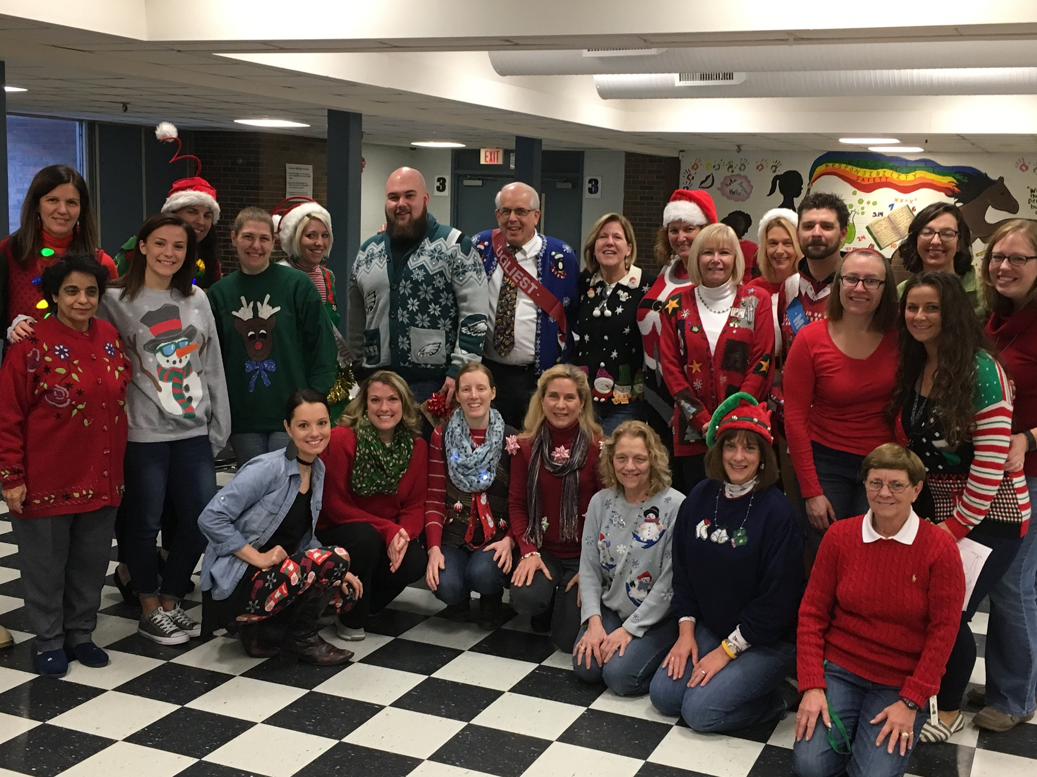 Sage Park Staff Holds Ugly Christmas Sweater Contest