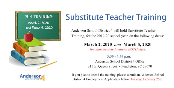 Spring Substitute Training