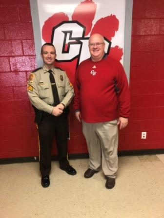 Cedar Bluff School Welcomes Resource Officer Jordan Kelley