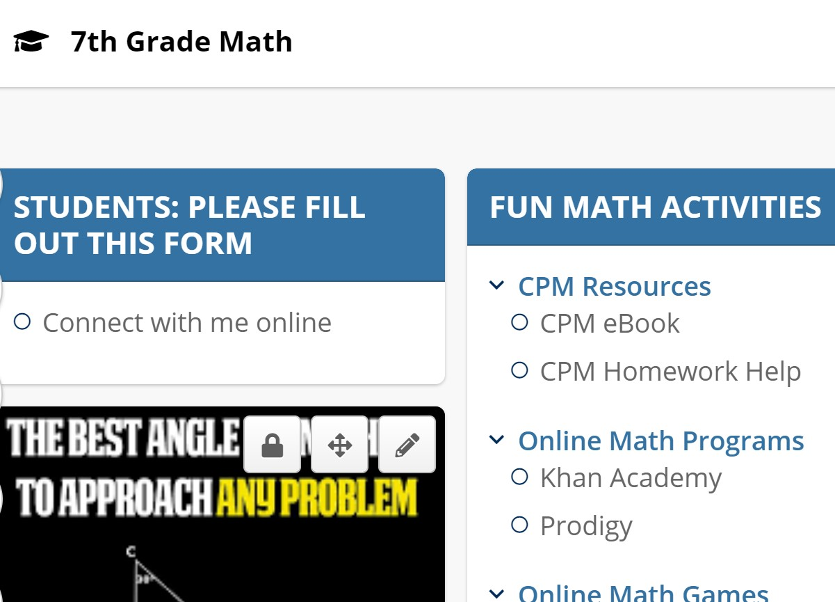 Click here for 7th Grade Math