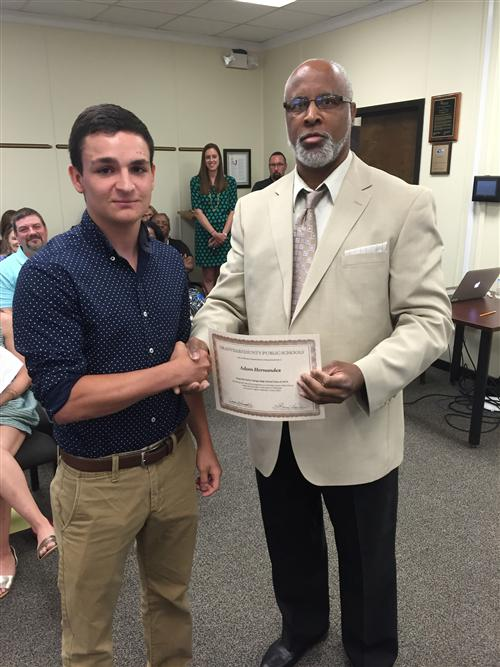 Adam Hernandez Speaks At Board Meeting