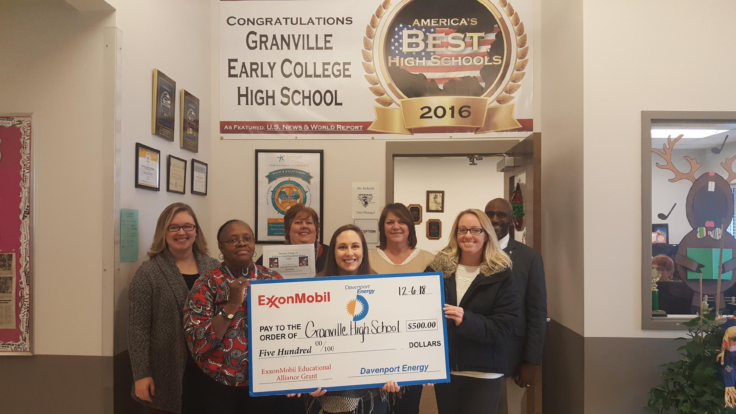 Math and Science ExxonMobil Educational Alliance Grant