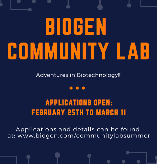 Biogen Community Lab - Summer 2019
