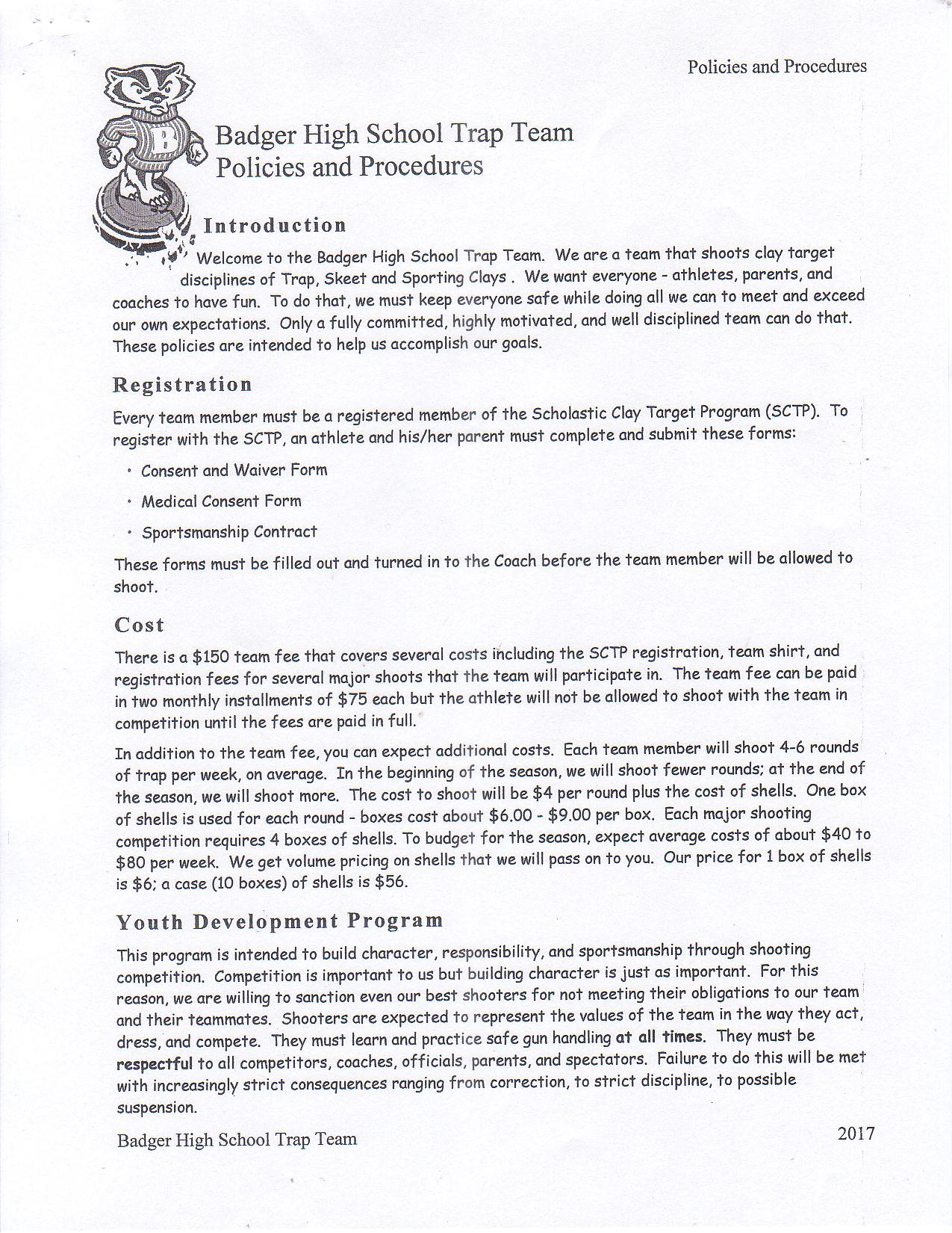 Policies and Procedures Page 1
