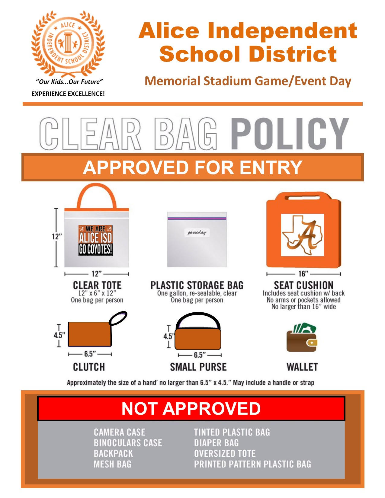 Memorial Stadium Clear Bag Policy
