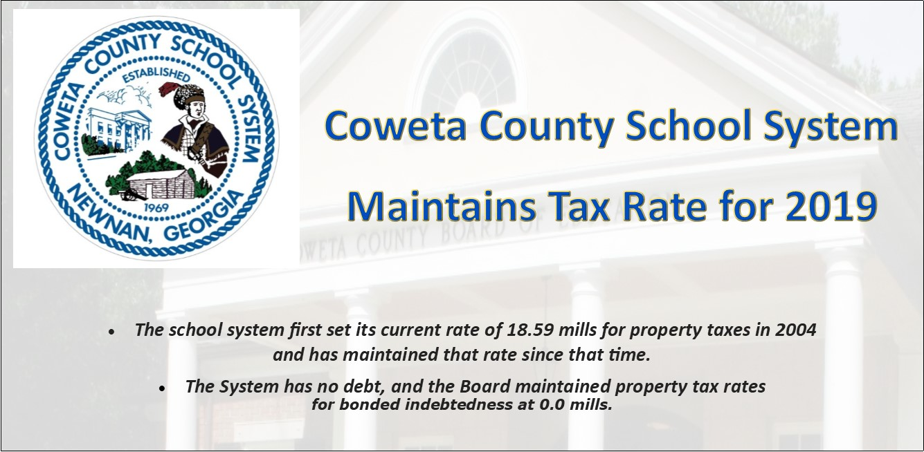 Coweta County School Board maintains millage rate for Fiscal Year 2020