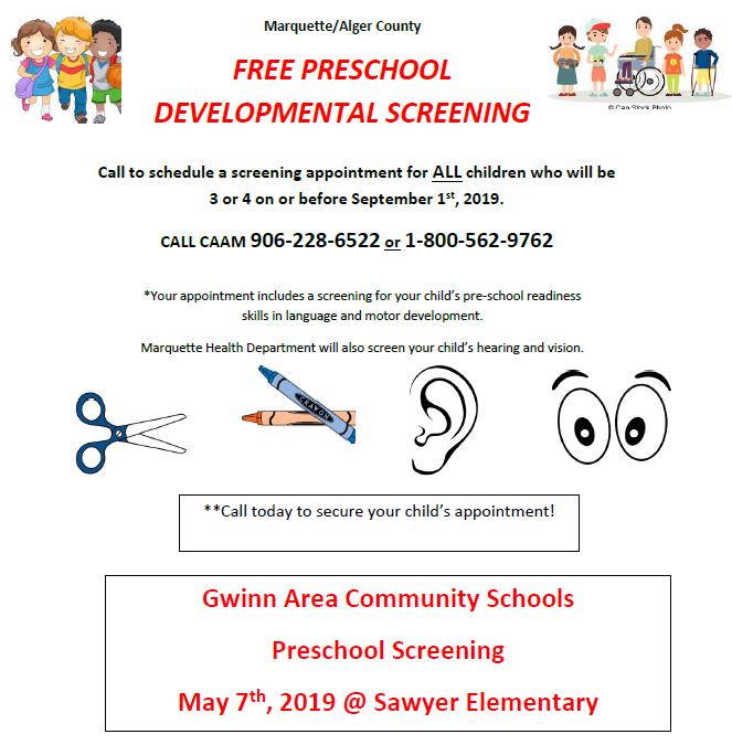 Free Preschool Screening