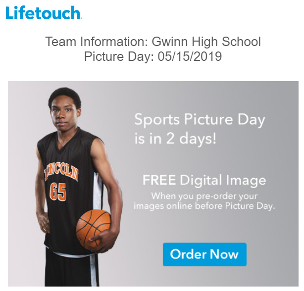 High School Sports Picture Day May 15th
