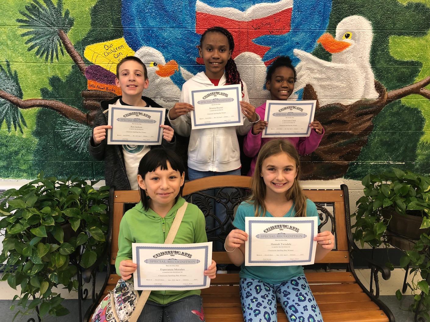 Fifth Grade Spelling Bee Winners
