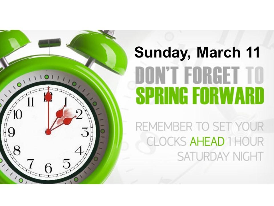 Daylight savings time begins...