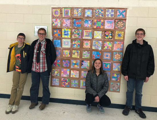 YIS Student Project- Underground Railroad Paper Quilt