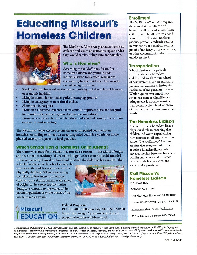 Educating Missouri's Homeless Children
