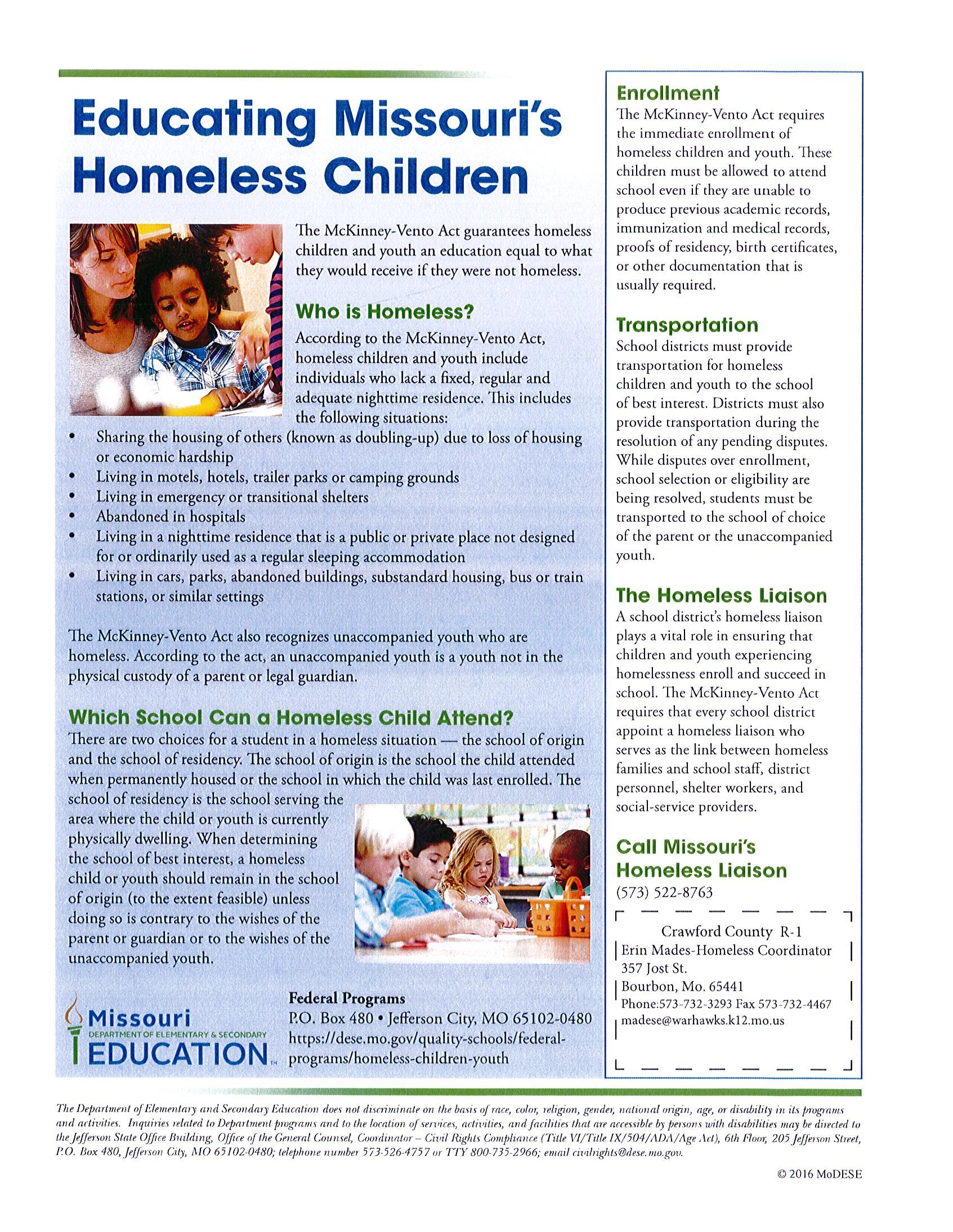 Educating Missouri's Homeless Children