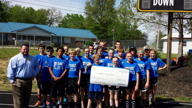 Walmart Donation to MS Track
