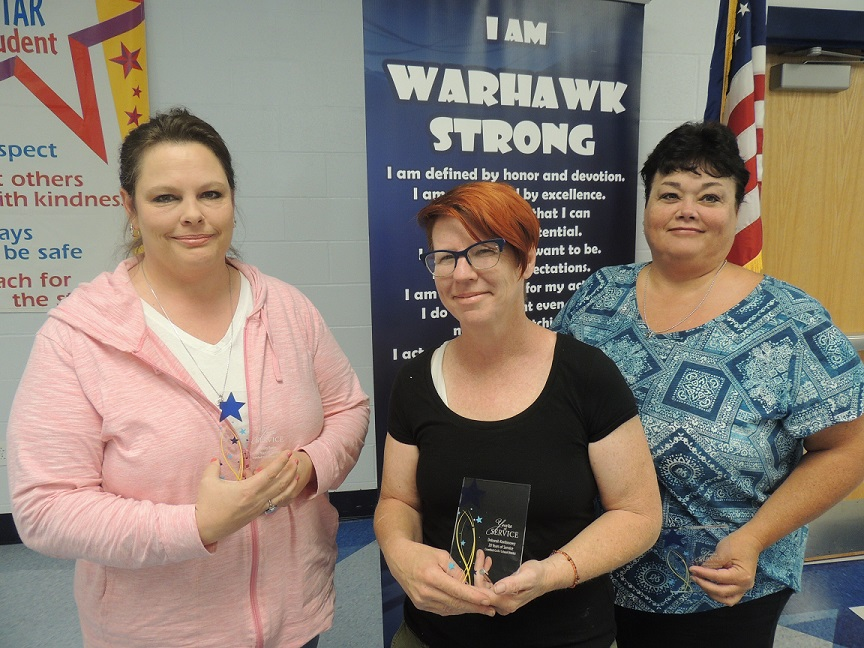 These Employees Received a Shining Star Plaque for 20 Years of Service