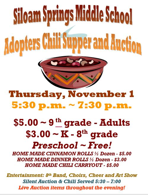 You're Invited to the Annual Adopters Chili Supper