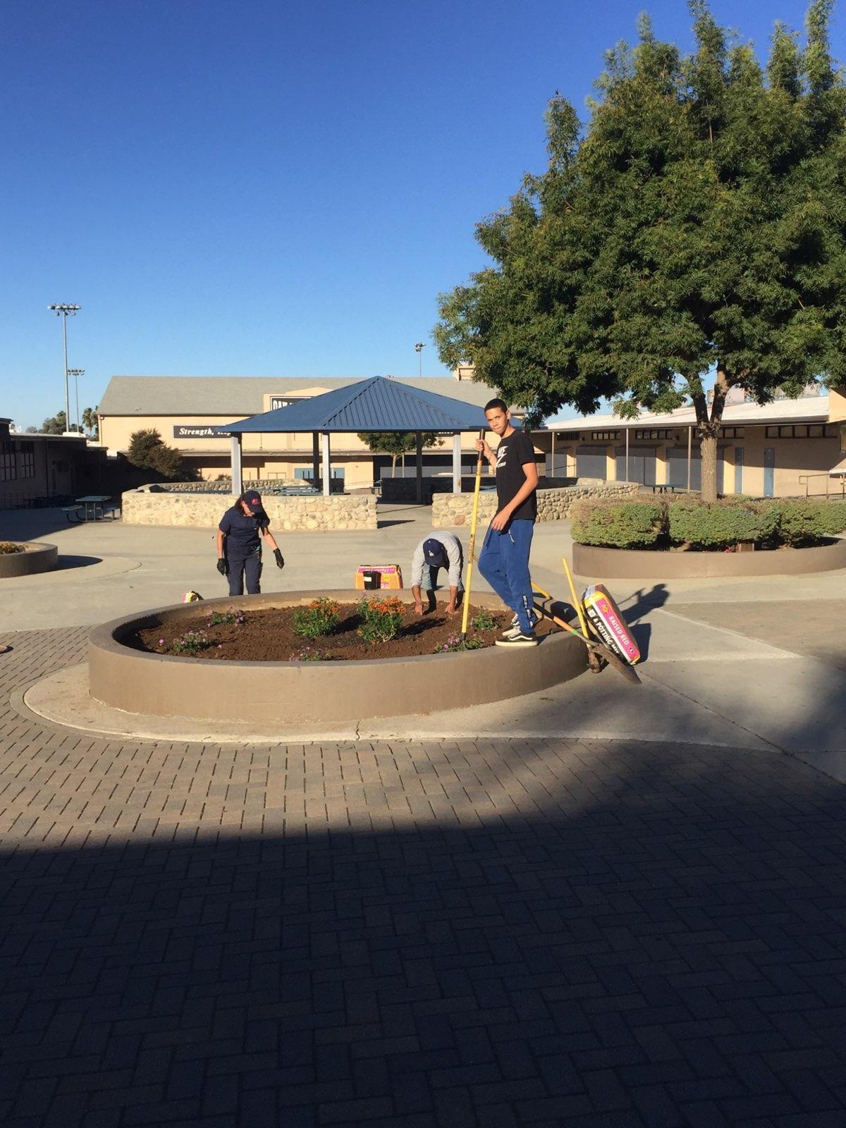Beautifying Our School!