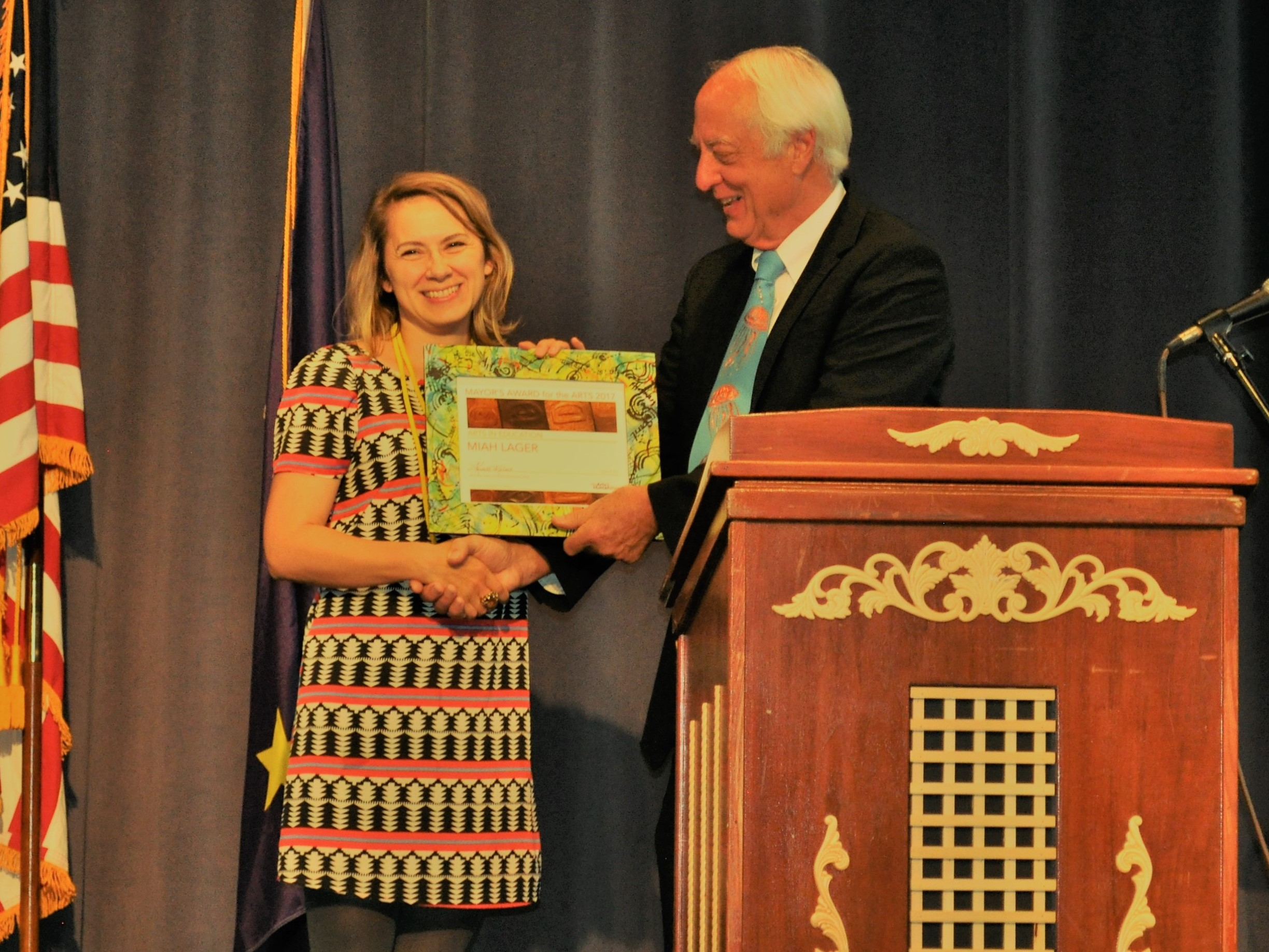Miah Lager, Mayor's Award for the Arts 2017
