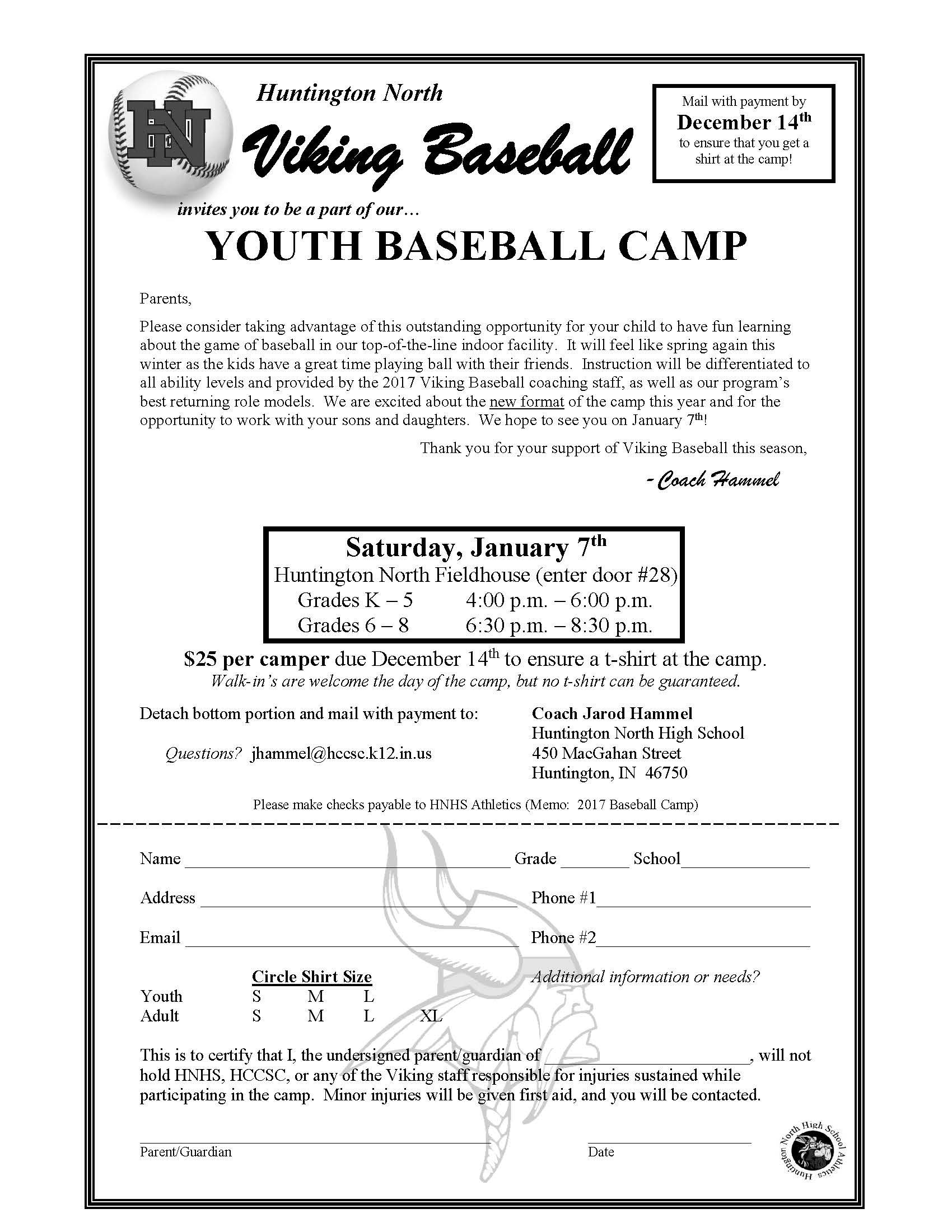 Viking Baseball Youth Camp