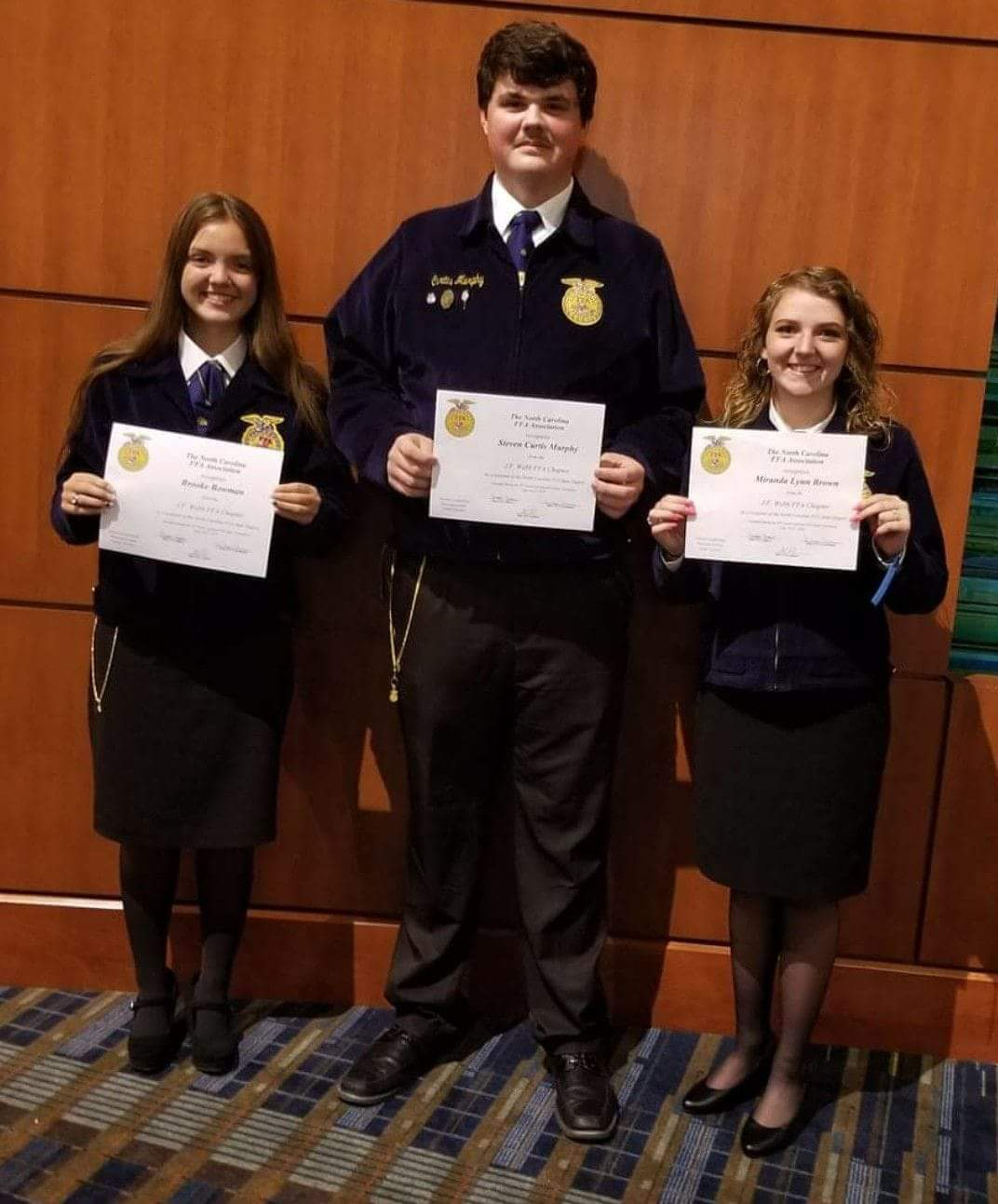 2018 J. F. Webb State FFA Degree Recipients