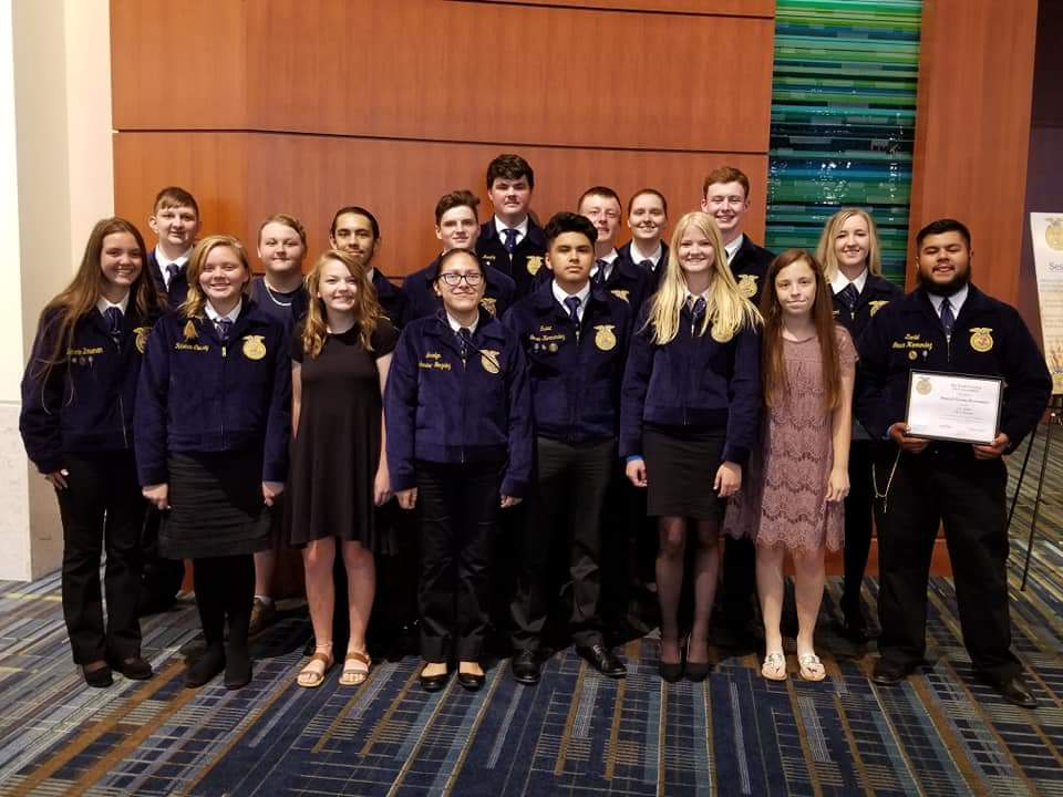 J. F. Webb Chapter members participate in 2018 State FFA Convention