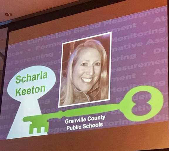 Scharla Keeton is Awarded Educator of Excellence for GCPS