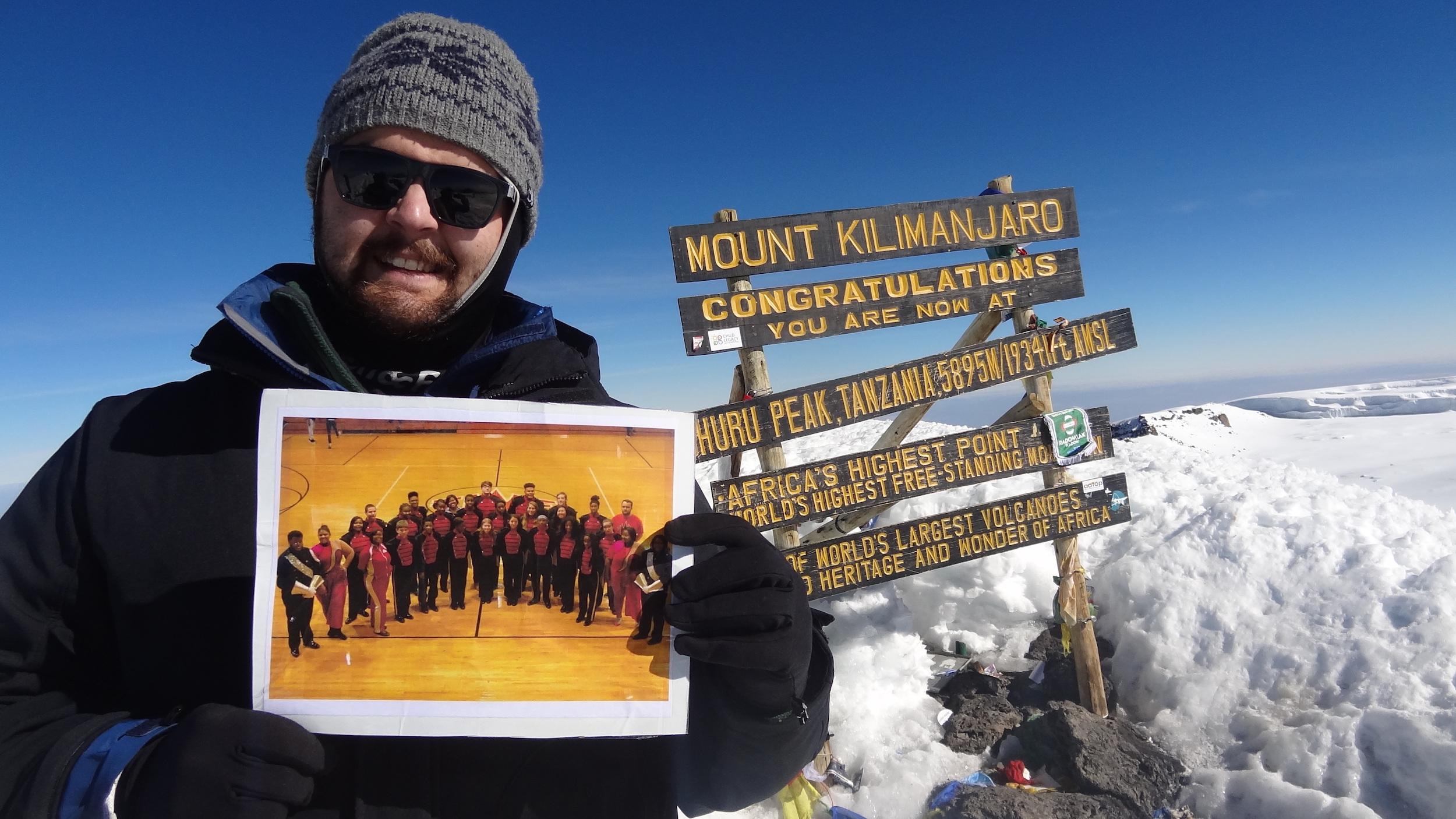 Mr. Holtshouser on top of Mt. Kilimanjaro !