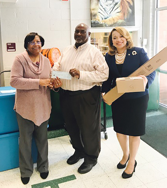 Joe Toler - Oak Hill ES Receives Donation