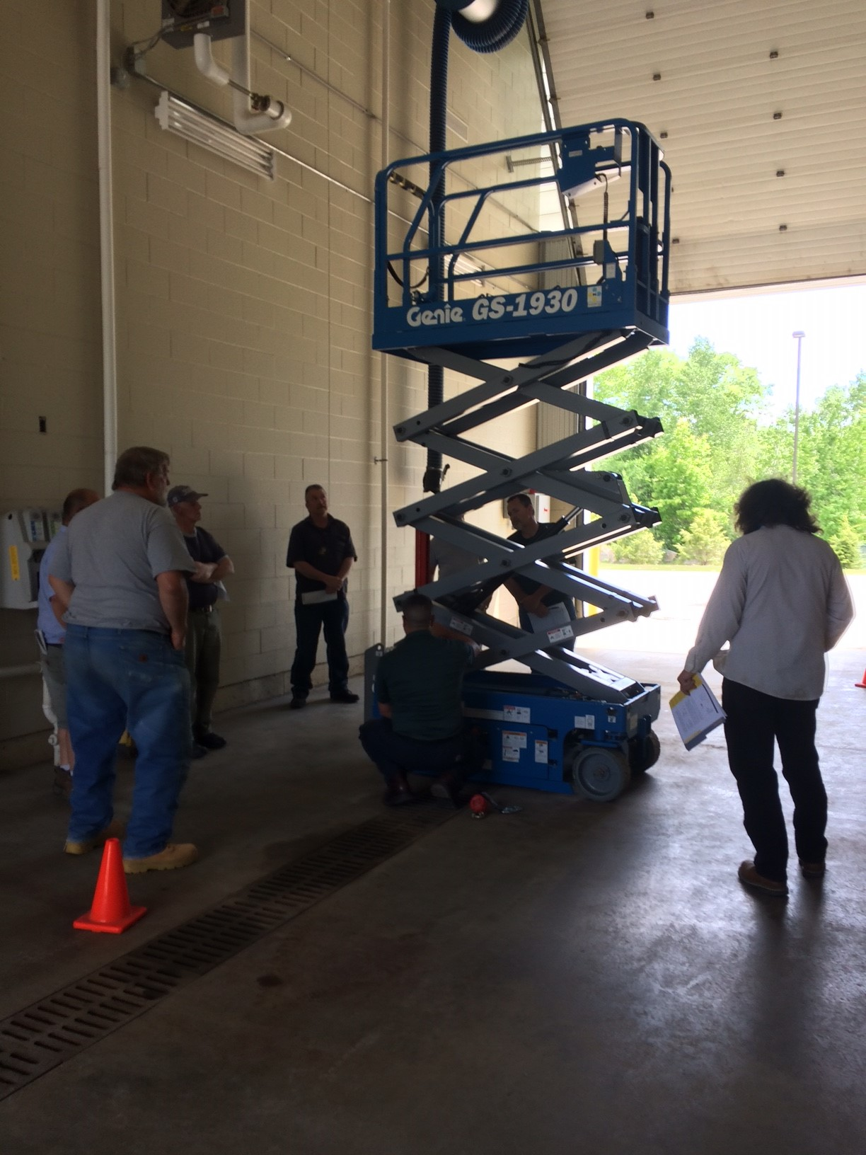 Facilities Staff Training on Lifts