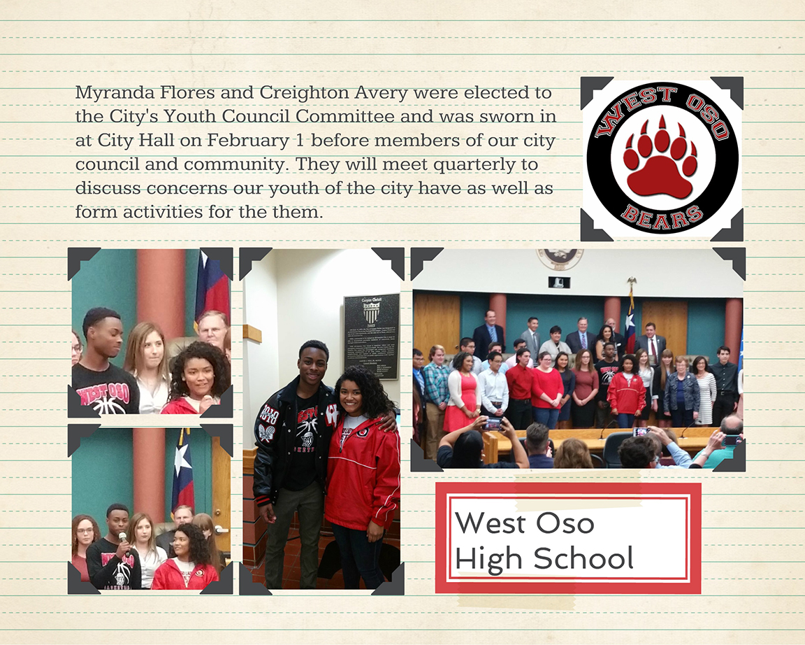 WOHS reps for the City's Youth Council Committee