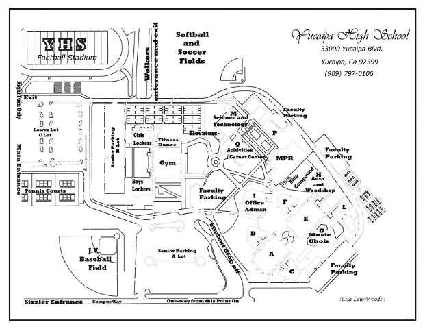 Yucaipa High School Campus Map
